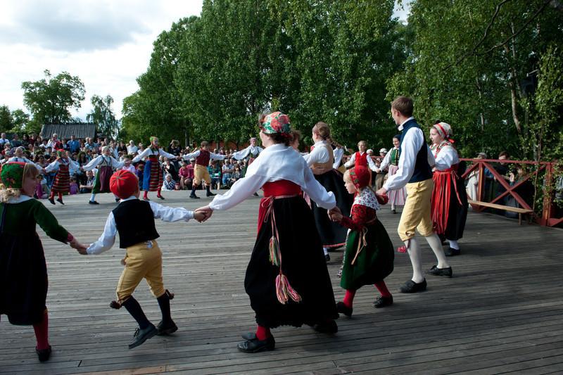 """Mid Sommer"" traditional folk dancing - Skansen, Stockholm"