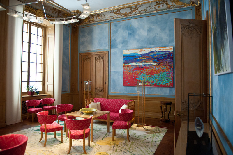 Royal Palace room with contemporary decor, Stockholm