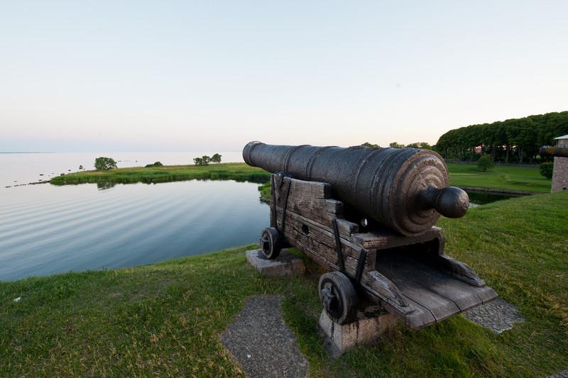 Cannon on the ramparts, Kalmar Slott Castle