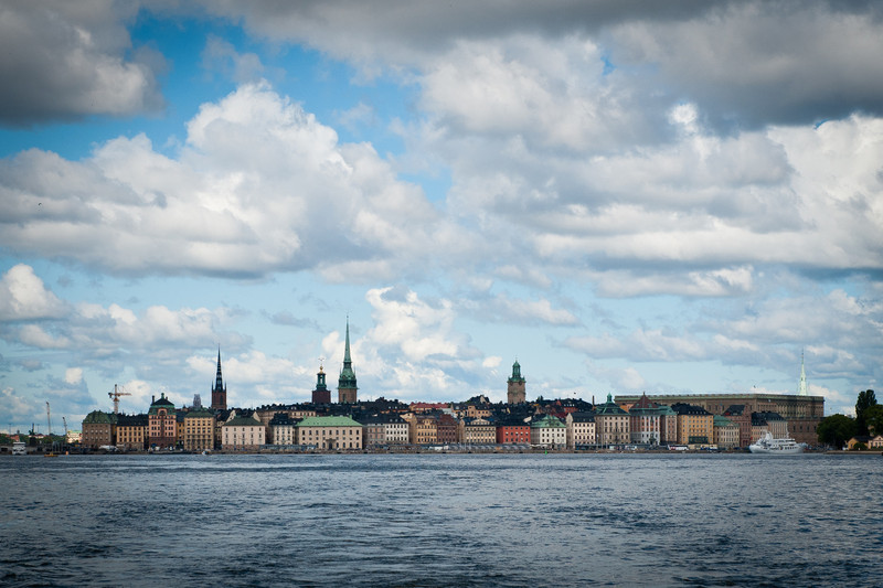 City view of Gamla Stan, the old city, Stockholm