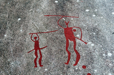 Rock Carvings in Tanum Rock Art Museum, Sweden