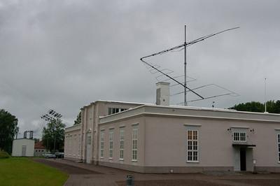 The main building at Varberg Radio Station in Grimeton, Sweden