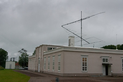 The main building at Varberg Radio Station in Grimeton, Sweden