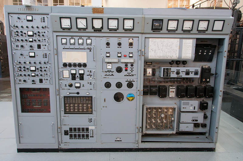 Communication equipment at Varberg Radio Station in Grimeton, Sweden