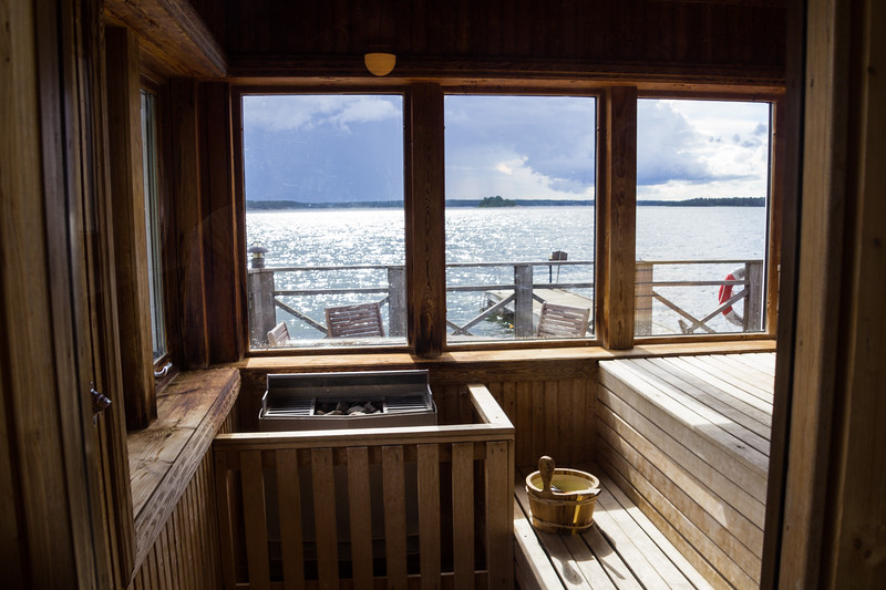 View from One of Three Saunas at Nasslingen Resort (©simon@sixlegswilltravel.com)