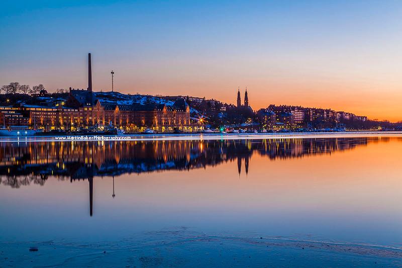 Södermalm and Lake Mälaren, Stockholm, Sweden.