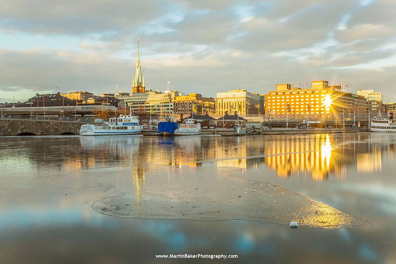 Lake Mälaren and Norrmalm, Stockholm, Sweden.
