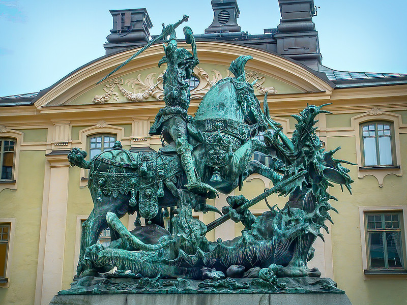 Stockholm - Gamla Stan - Saint George and the Dragon
