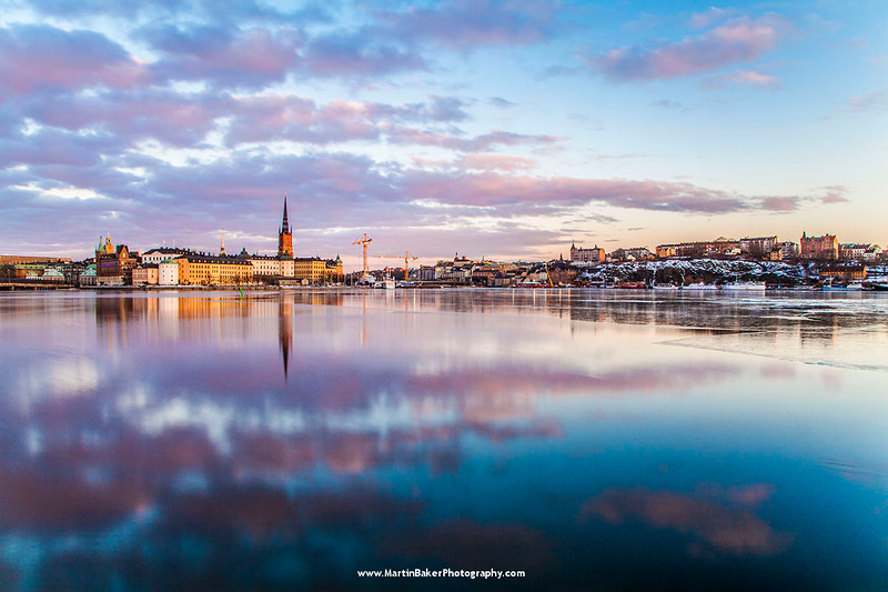 Gamla Stan, Södermalm and Lake Mälaren, Stockholm Sweden.