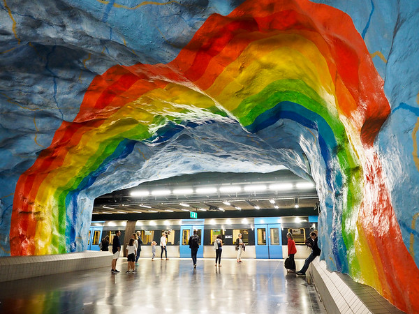 Stadion metro station in Stockholm