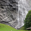 Staubbach Falls is claimed as the tallest waterfall in Switzerland and I had a good view of it from my tent window. Behind the waterfall you can see the walkway.