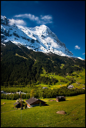 View from gondola from Grindelwald to First