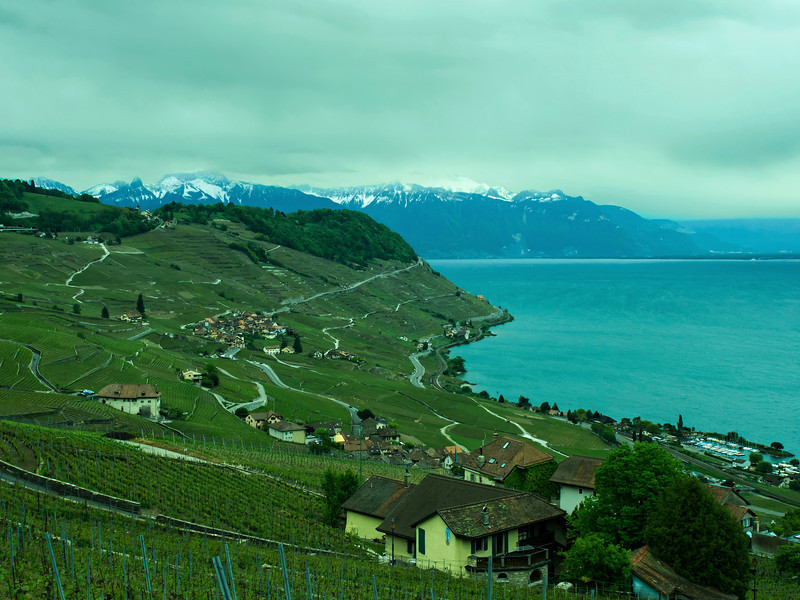 View from the north shore of Lake Geneva