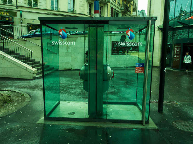 They have new phone booths in Switzerland; I never could figure out why.