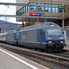 BLS Re465 009 heads an Intermodal through Olten.