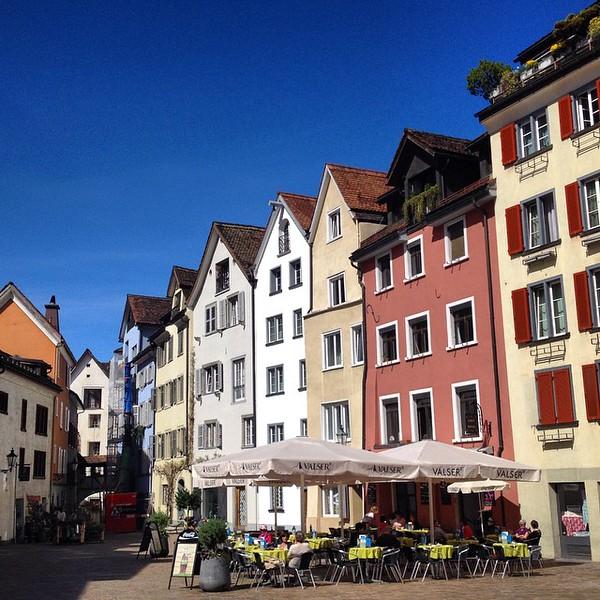 Arcas Square in Chur, Switzerland