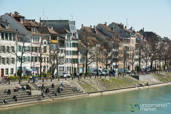 Basel along the Rhine River - Switzerland