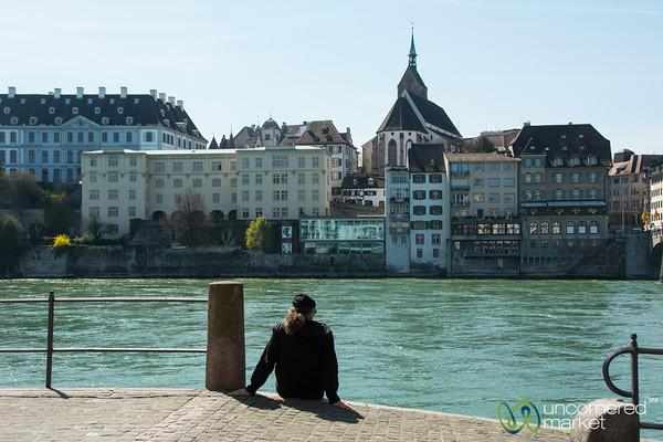Enjoying Rhine River on a Sunny Day - Basel, Switzerland