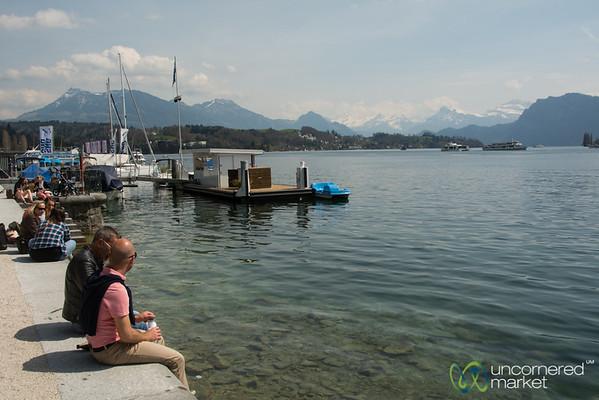 Sunny Day at Lake Lucerne - Luzern, Switzerland