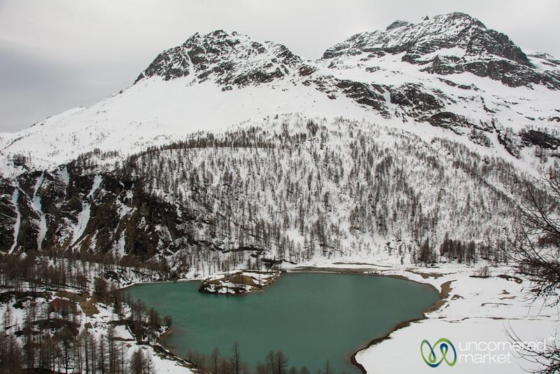 Palü Lake, a Glacier Lake near Alp Grüm - Switzerland