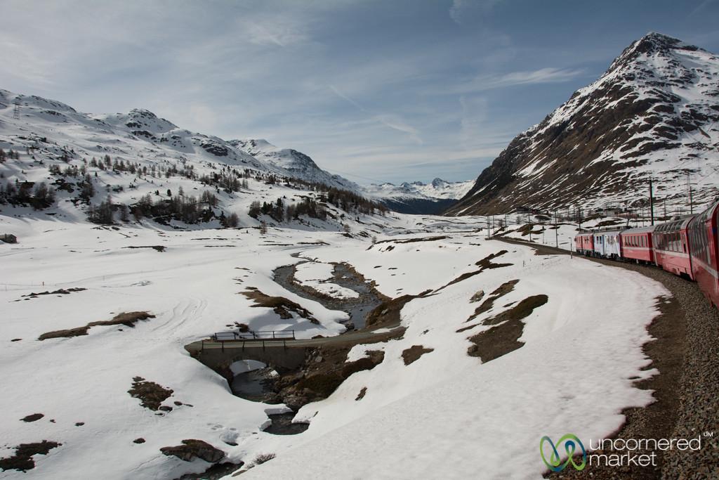 Bernina Express Train Through the Mountians - Switzerland