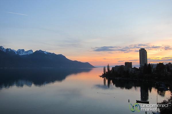 Sunset Along Lake Geneva - Montreux, Switzerland