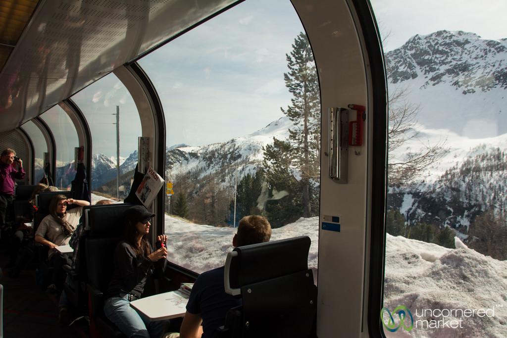 Bernina Express Train and Views - Switzerland