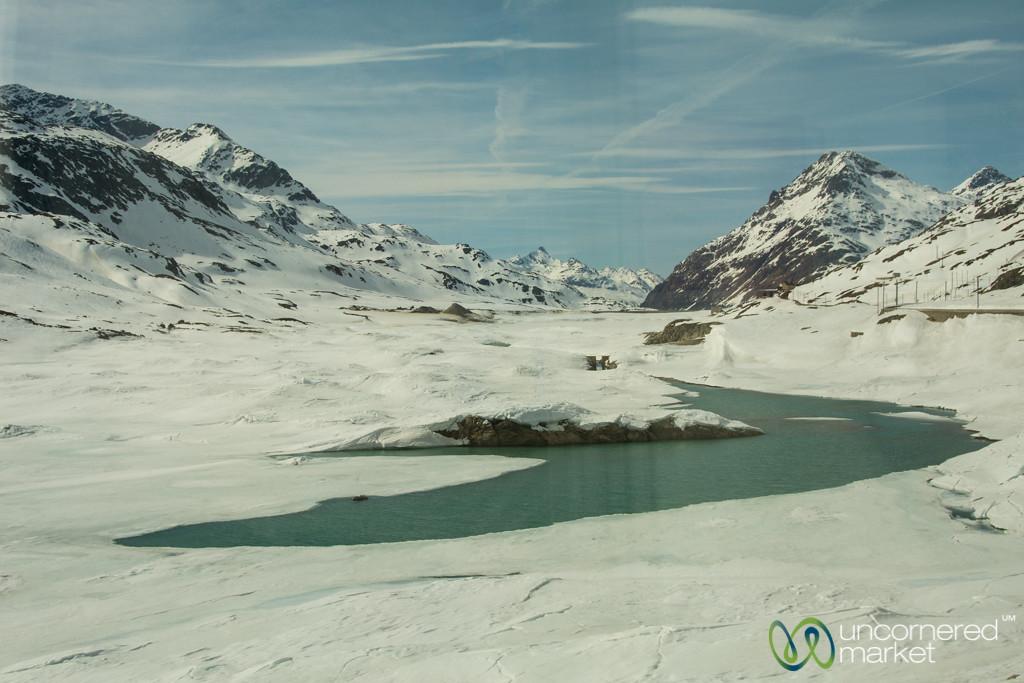 Glacier Lakes and Mountain Passes - Bernina Express, Switzerland