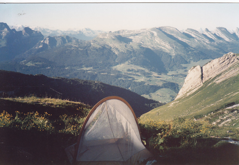 We used the hut in the evening, for drinks and food but slept in our tent