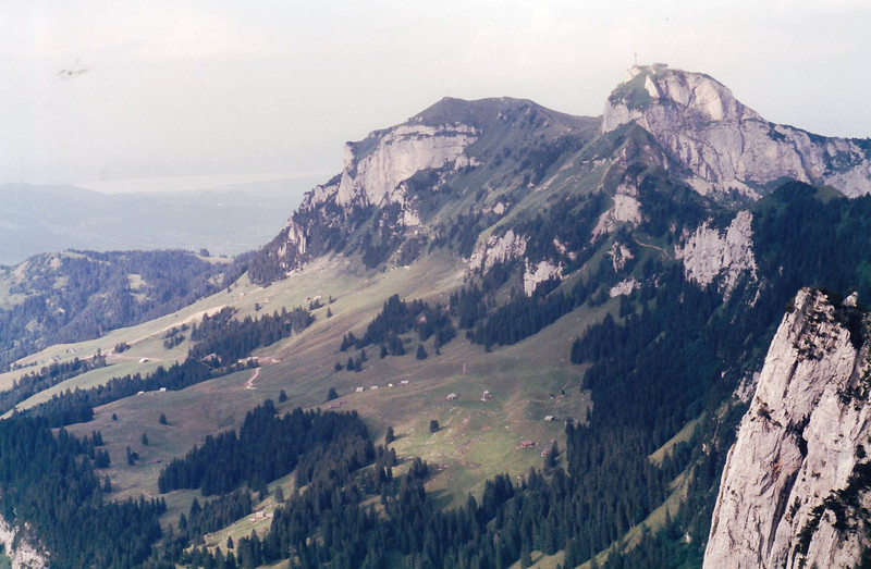 View of the route from the Gondola