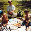 Pic Nic under the Eifel Tower,  Dave, Ron, Anna, Bruce