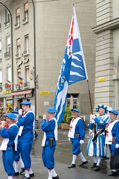 Musical band on the street of Bern, Switzerland