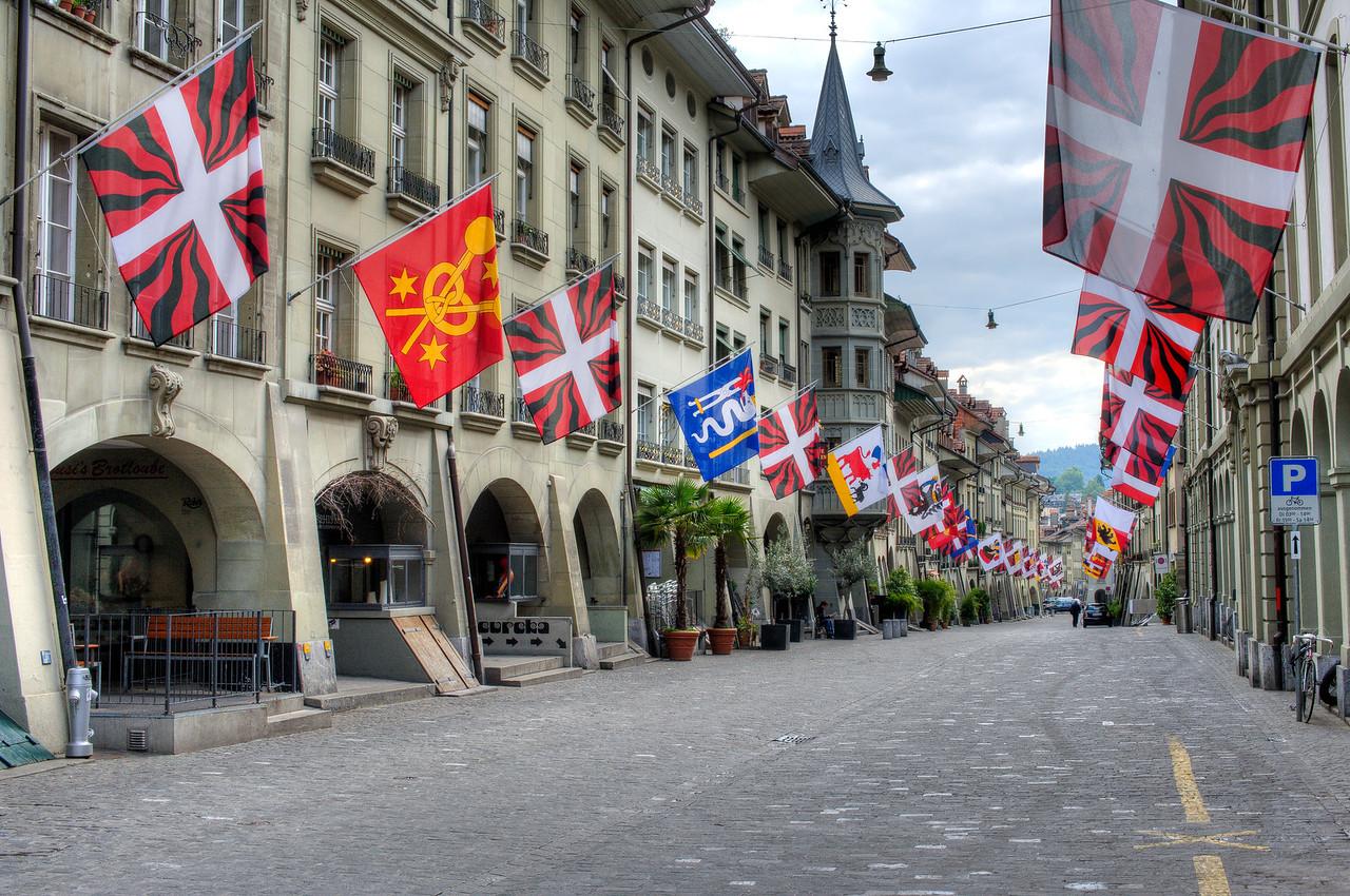Street scene in Marktgasse in Bern, Switzerland