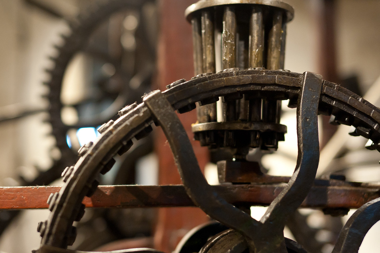 Details inside the Zytglogge Clock Tower in Bern, Switzerland
