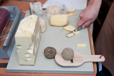 Cheese sampling in Bern, Switzerland