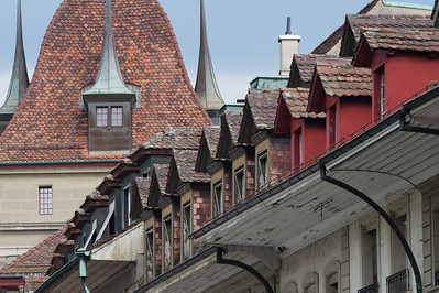 Architectural details of building in Bern, Switzerland