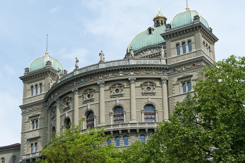Federal Palace of Switzerland in Bern, Switzerland