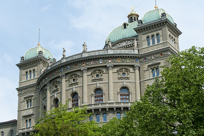 Federal Palace of Switzerland in Bern, Switzerland