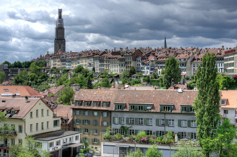 Aerial view of the Old City of Bern, Switzerland