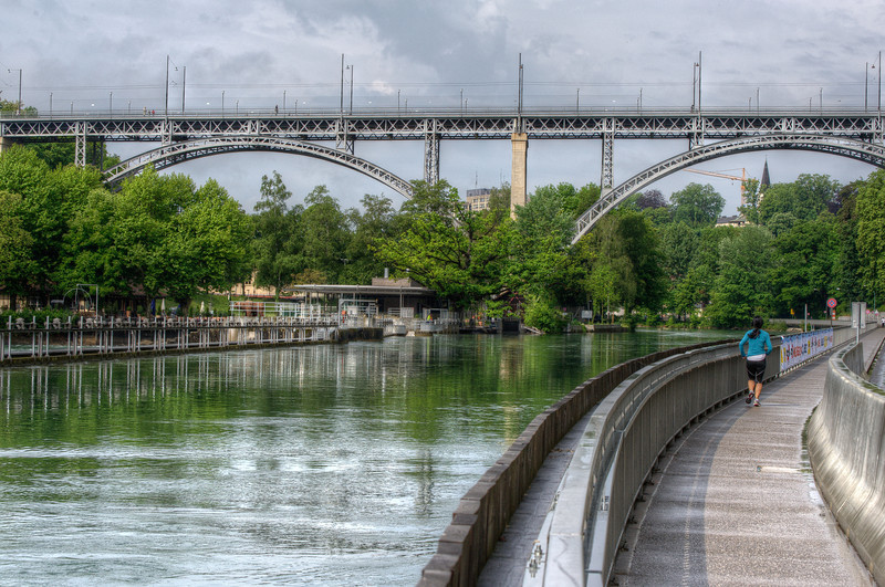 Kirchenfeld Bridge over Aare River in Bern, Switzerland