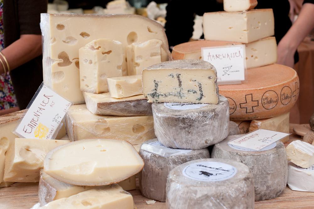 Artisan cheeses in Bern, Switzerland