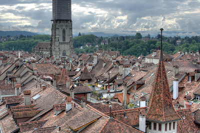 Rooftops in the Old City of Bern, Switzerland