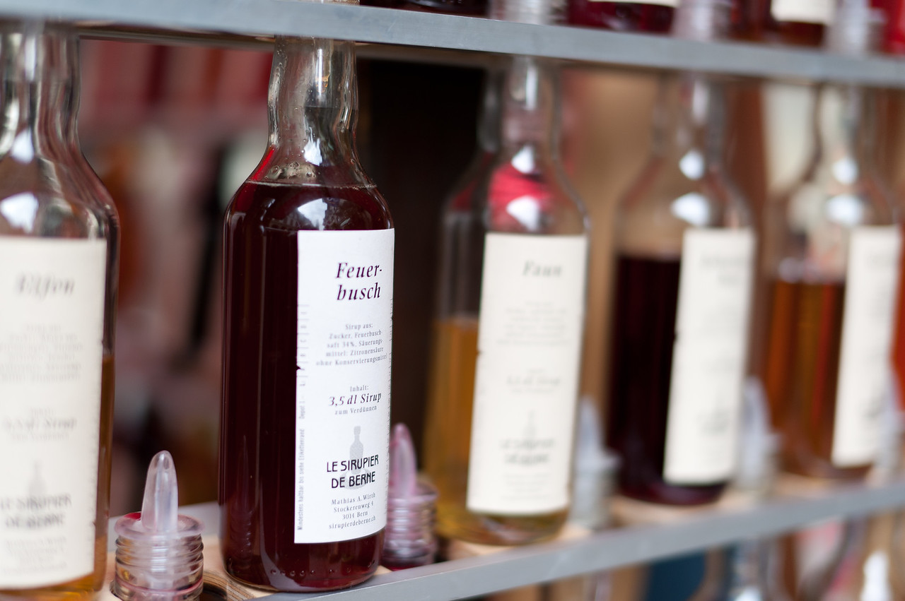 Selection of wines in Bern, Switzerland