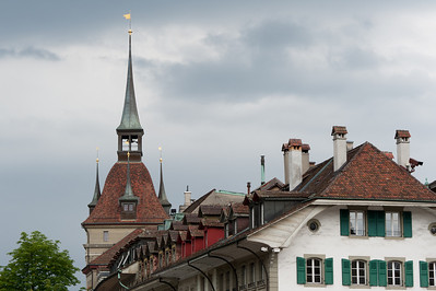 View of the Zytglogge clock tower from the back - Bern, Switzerland