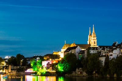 Night in Basel, Switzerland