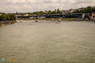 The Rhine River in Basel, Switzerland