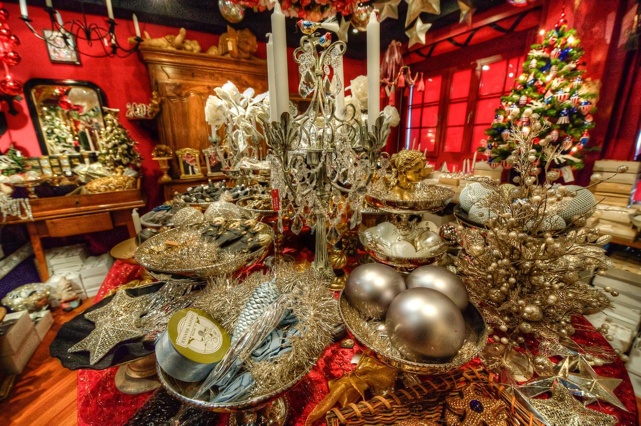 Christmas decor shop in Basel, Switzerland