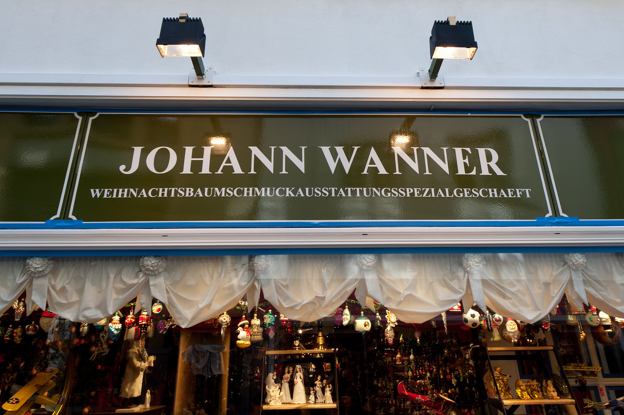 Johann Wanner's Christmas Store in Basel, Switzerland