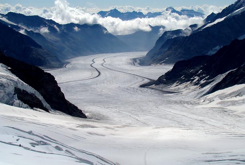 A glacier view from Jungfraujoch