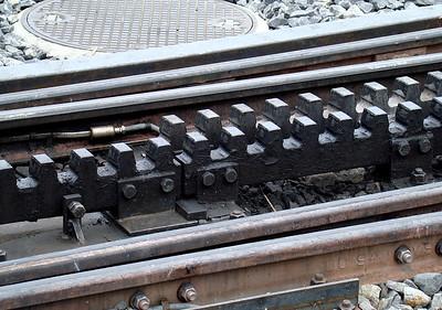 Cogwheel rail tracks in Kleine Scheidegg